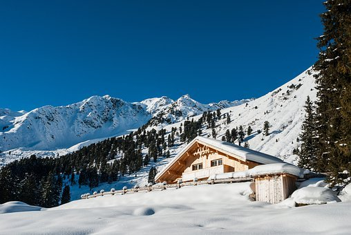 Austria, Landscape, House, Home, Mountains, Scenic