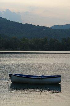 Banyoles, Llac, Lake, Boat