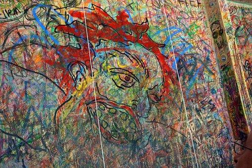 Guggenheim, Art, Painting, Board, Wax Crayons, Paint