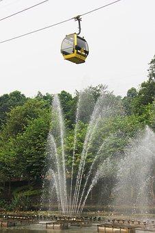 Fountain On The Cable Car, Fountain, Cable Car