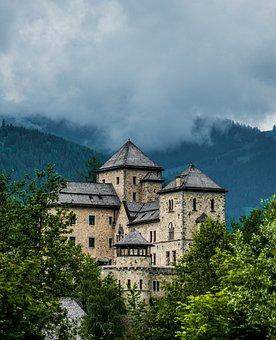 Castle, Austria, Bruck, Mountains, Trees