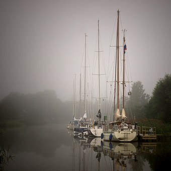 Sailboat, Sailing, Norsholm, Gota Canal, Channel