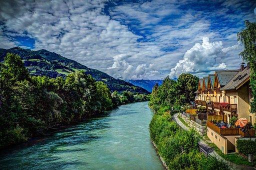 Austria, St Johann, Clouds, Alps, Landscape, Nature
