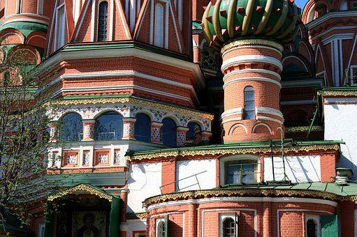 St Basil's Cathedral, Multicolored, Windows, Decorative