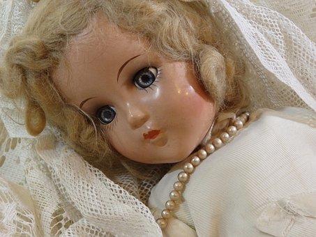 Antique, Doll, Creepy, Bride