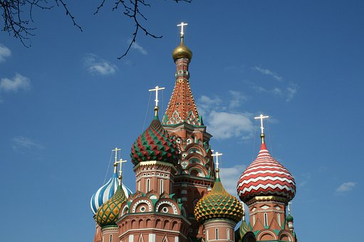 St Basil's Cathedral, Domes, Cupolas, Multicolored