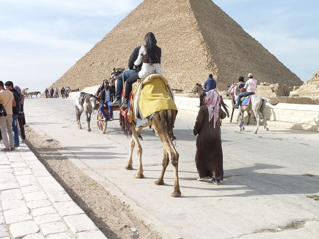 Egypt, Pyramids, Across The Street