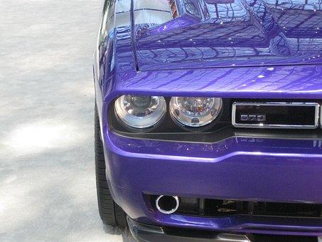 Dodge, Challenger, Eyes, Half, Car, Focus, Electric