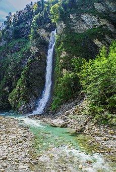 Waterfall, Liechtensteinklamm, Gorge, St Johann