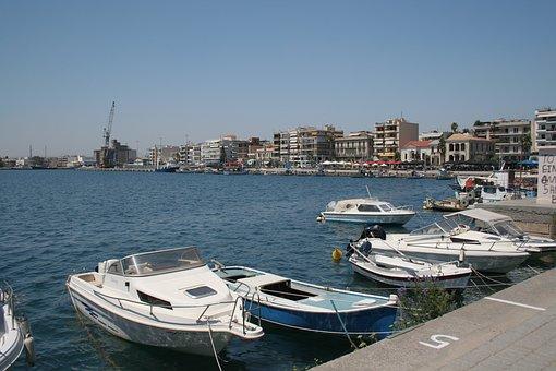 Url, Port, Fishing Boat, Water, Greece
