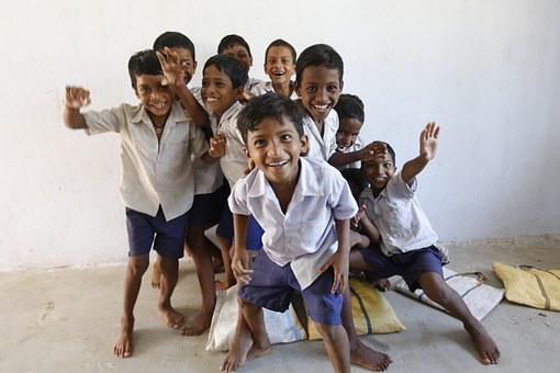 Happy Children, Children Smile, Having Good Time, Happy