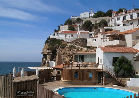 Holiday, Portugal, Coastal Village, Village, Cliff