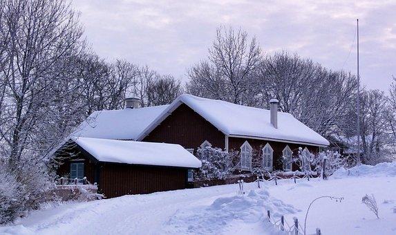 Vettershaga, Sweden, House, Home, Architecture, Winter