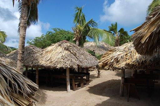 Hut, Caribbean, Thatched, Roof, Tropical, Tropics