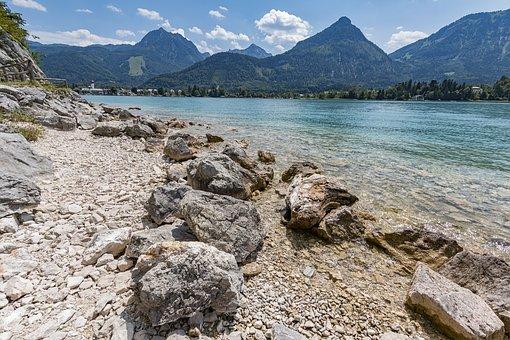 Lake Wolfgang, St Wolfgang, Panorama, Austria, Lake