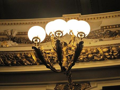 Dresden, Semper Opera, Lantern, Lighting, Theater