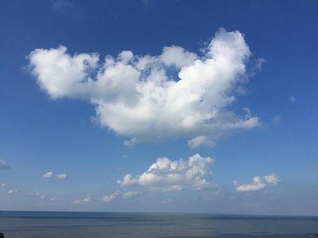 Beach, Matsu, The Scenery, Ocean, Sky, Green, Summer