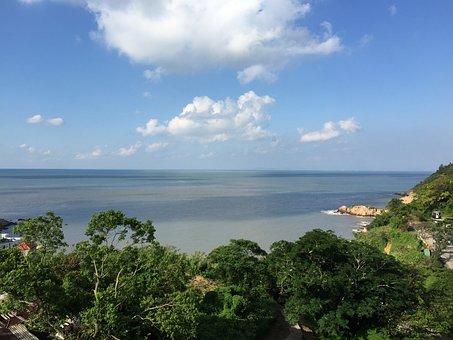 Beach, Sky, Matsu, The Scenery, Green, Ocean, Sea