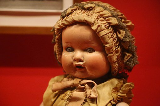 Old, Creepy, Doll, Antique