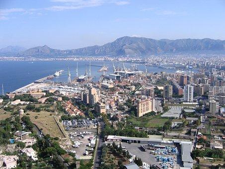 Palermo, Sicily, Porto, View, Landscape, City