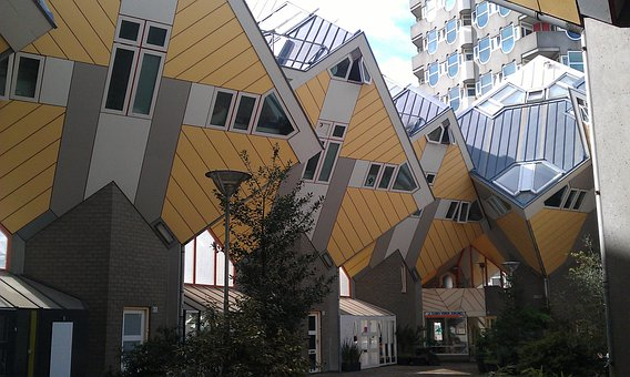 Architecture, Cube Houses, Rotterdam, Residential Idea