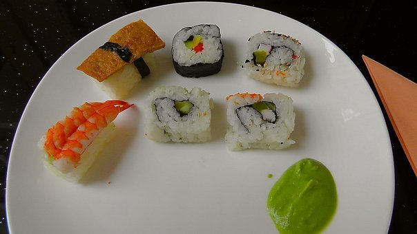 Sushi, Food, Fish, Japanese, Plate, Eat, Cover