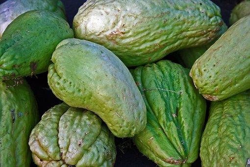Chayote, Shu-shu, Squash, Vegetable, Food, Green