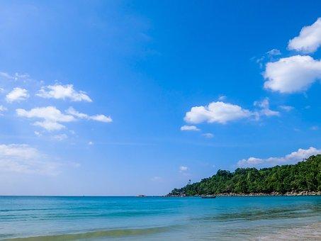 Thailand, Sea, Wave, Water, Spray, Blue, Surf