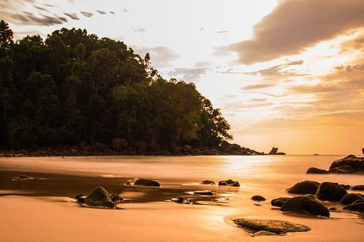 Sunset, Sea, Wave, Thailand, Water, Spray, Blue, Surf