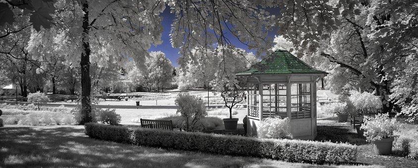 Pavilion, Infra Red, Britz Garden, Berlin, Special