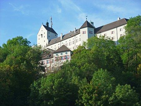 Bavaria, Chiemgau, Germany, Castle, Hohenaschau, White