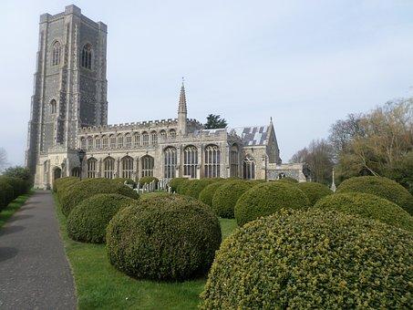 Lavenham Church, Cathedral, Church, Yews, Topiary
