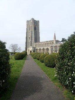 Lavenham Church, Church, Cathedral, Yews, Yew Tree