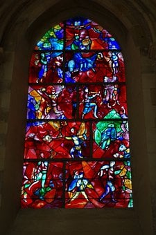 Chagall, Church Window, Glass Art, Colorful, Color