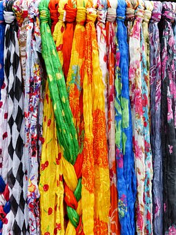 Scarves, Towels, Colorful, Clothing, Garments