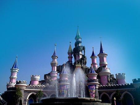 Castle, Princess, Fairy Tale World, Cartoon