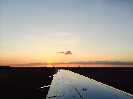 Aircraft Wing, Wing, Sunset, Aircraft, Flying, Travel