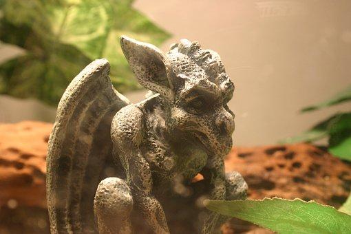 Gargoyle, Stone, Statue, Gothic, Demon, Monster, Garden