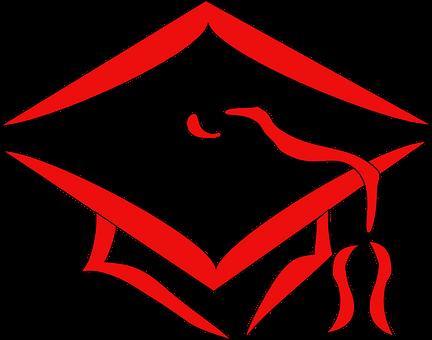 Graduate Cap, Academic Cap, Graduation, Red