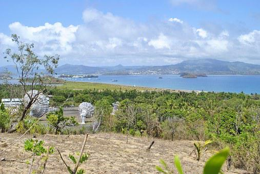Mayotte, Indian Ocean, Dziani Lake, Landscape
