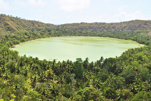 Mayotte, Indian Ocean, Dziani Lake, Lake, Landscape