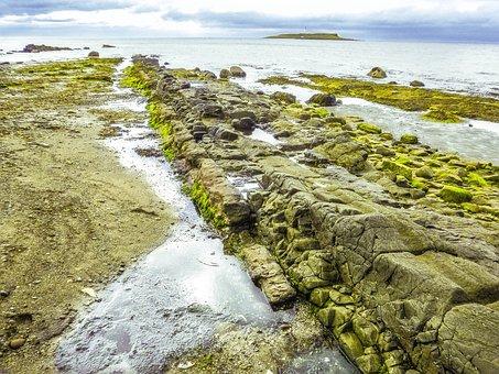 Isle Of Arran, Lamlash, Sea, Stone, Beach, Sand, Stones