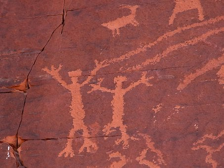 Cave Paintings, Mural, Usa, Nevada, Prehistoric, Old