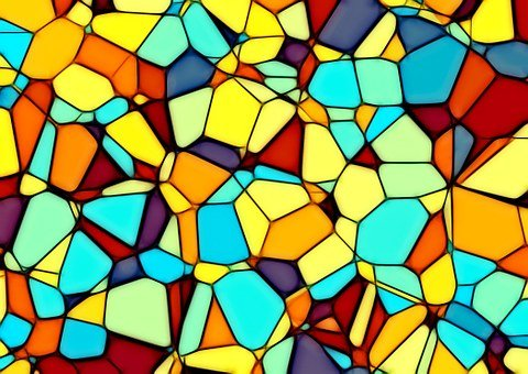 Abstract, Squares, Triangle, Polygon, Background