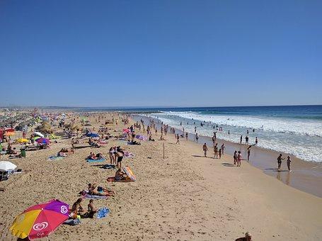 Beach, Costa Da Caparica, Portugal