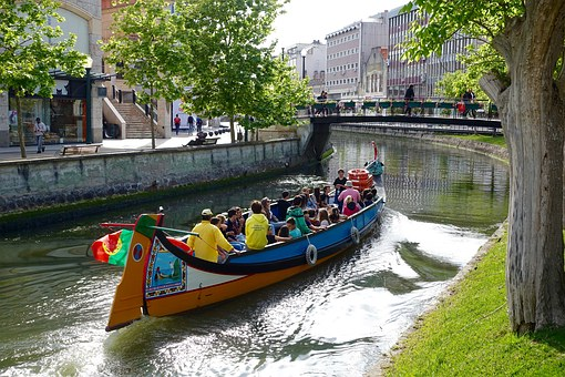 Canal, Boat, Aveiro, Traditional, River, Portugal