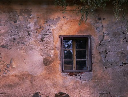 Window, Old Window, Wall, Old Wall, Rectory, Ledenice