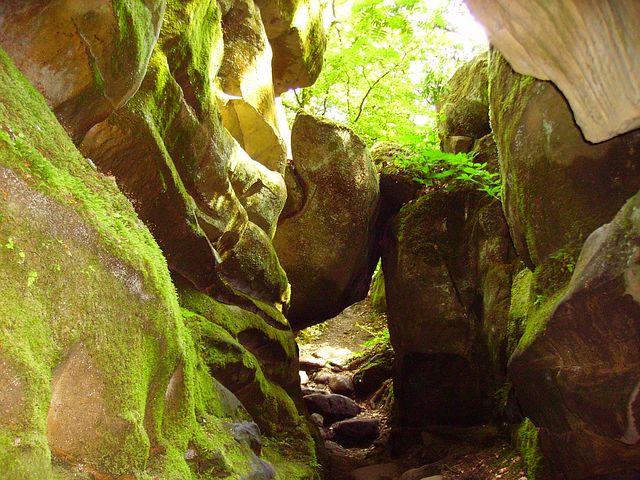 Rock, Sand Stone, Devil's Canyon, Sachsen