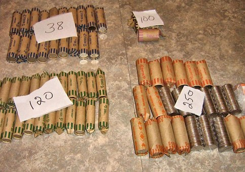 Canadian Money, Rolled Coins, Value