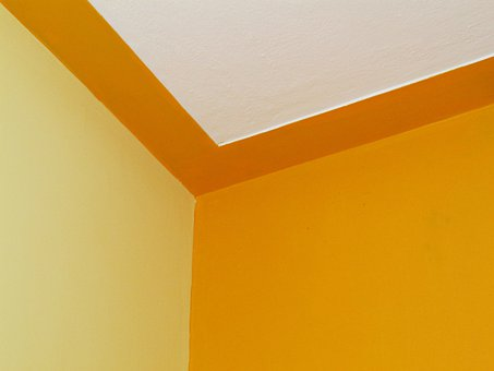 Edge, Room, Wall, Ceiling, Color Combination, Yellow
